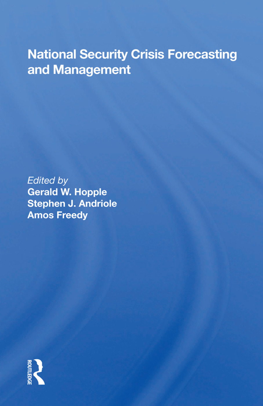 National Security Crisis Forecasting And Management book cover