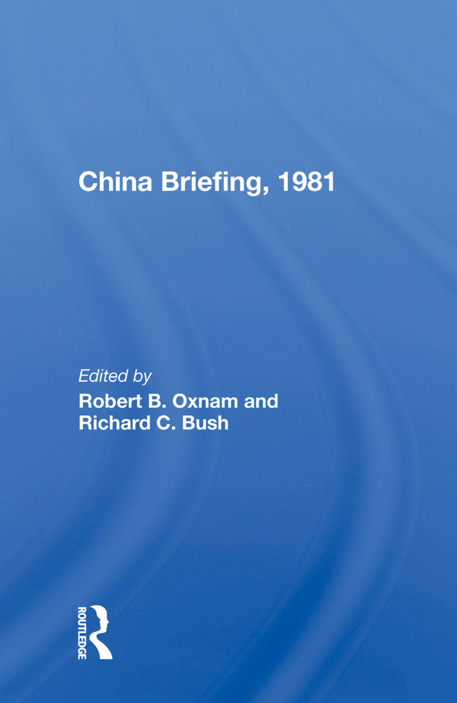 China Briefing, 1981: 1st Edition (Paperback) book cover