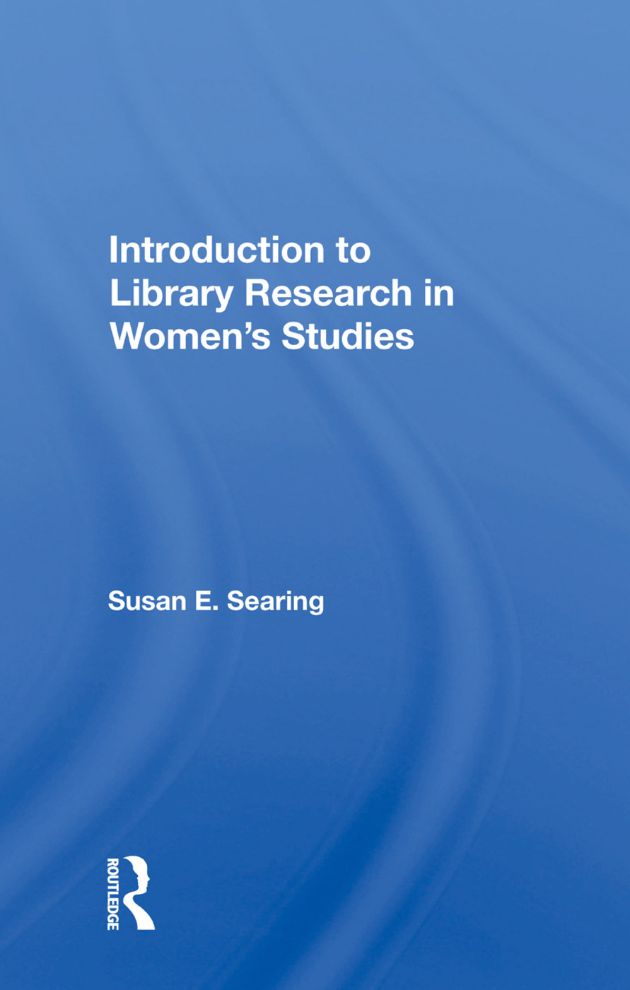 Introduction To Library Research In Women's Studies book cover