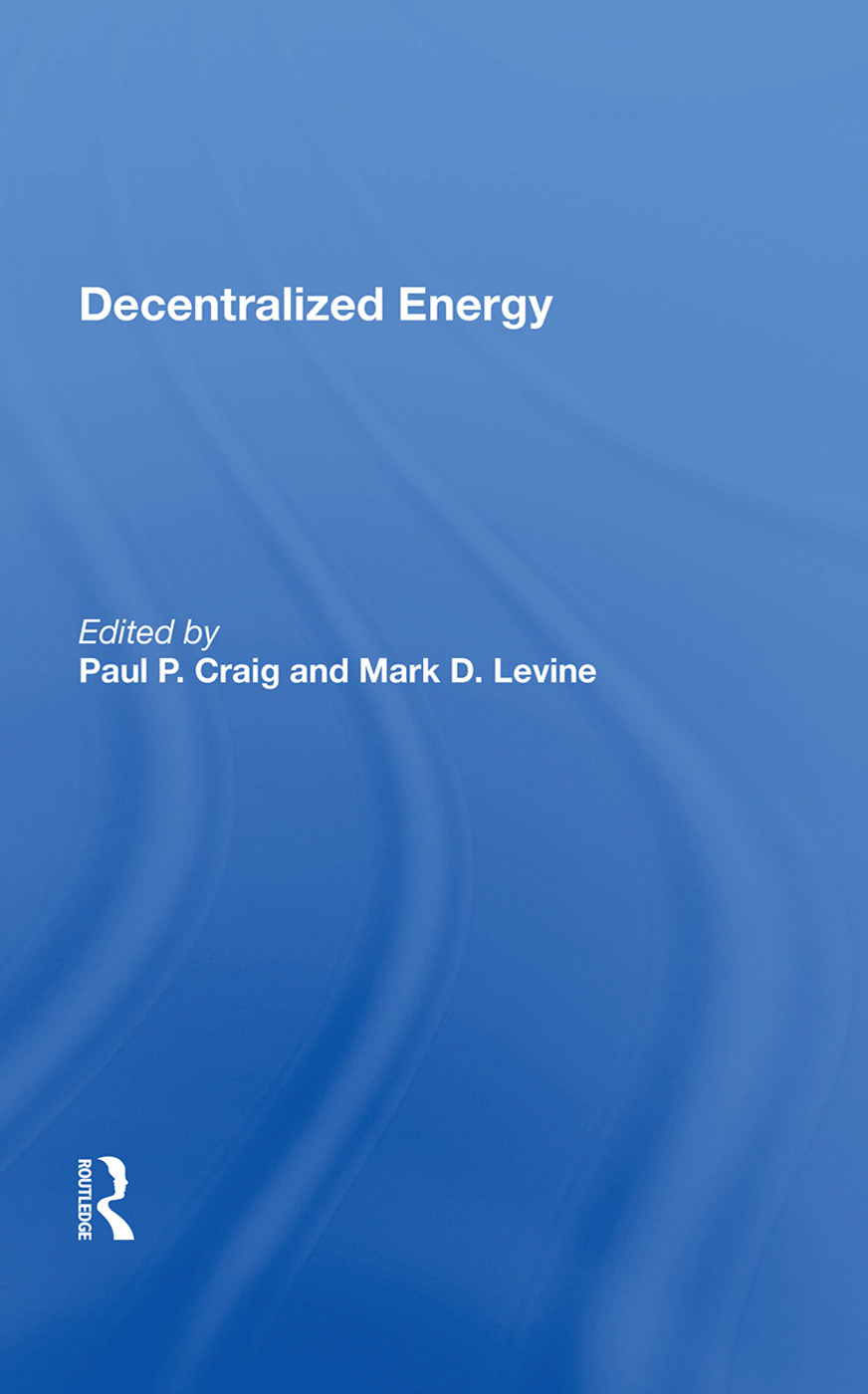 Decentralized Energy book cover