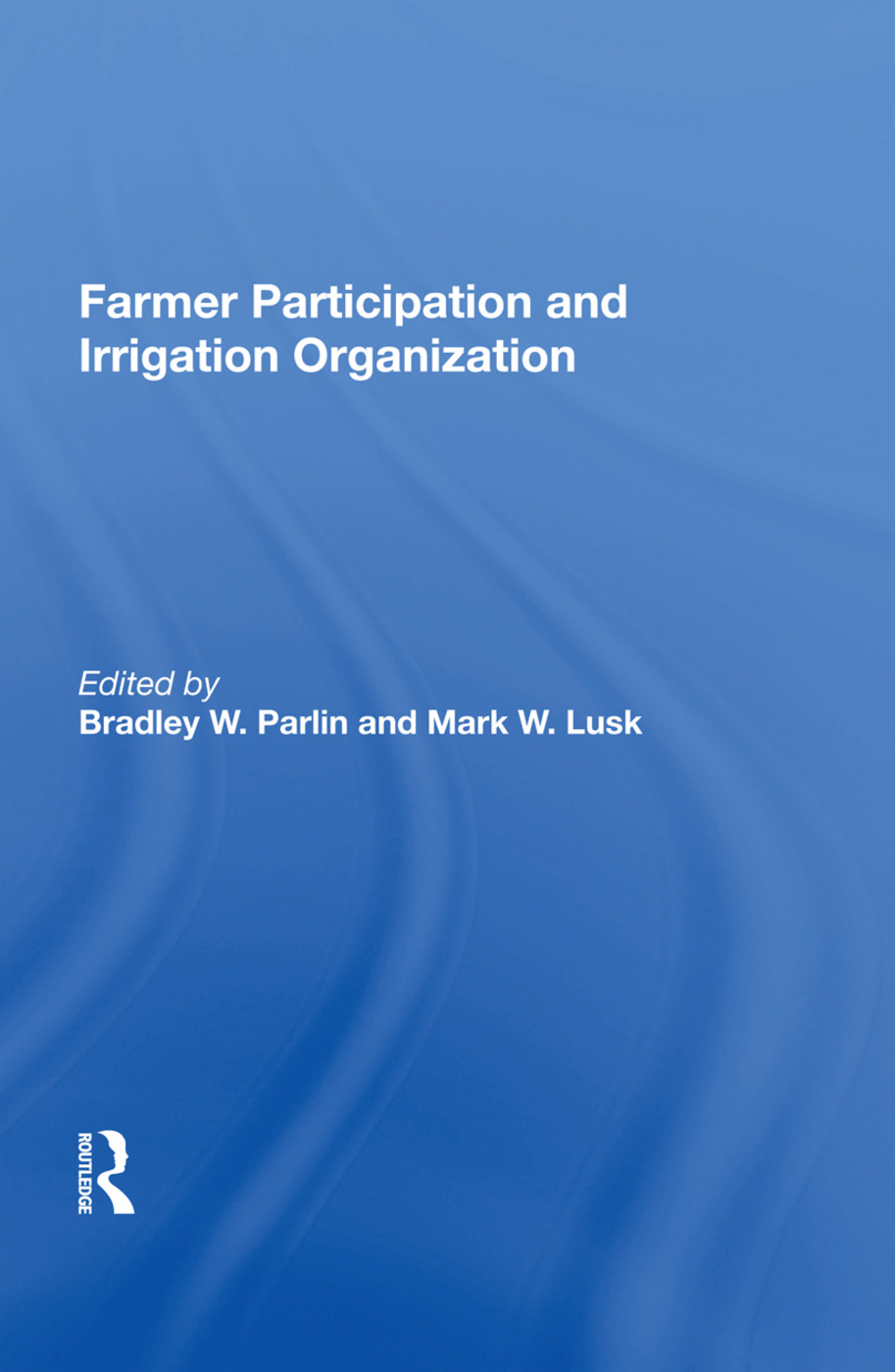 Farmer Participation And Irrigation Organization book cover