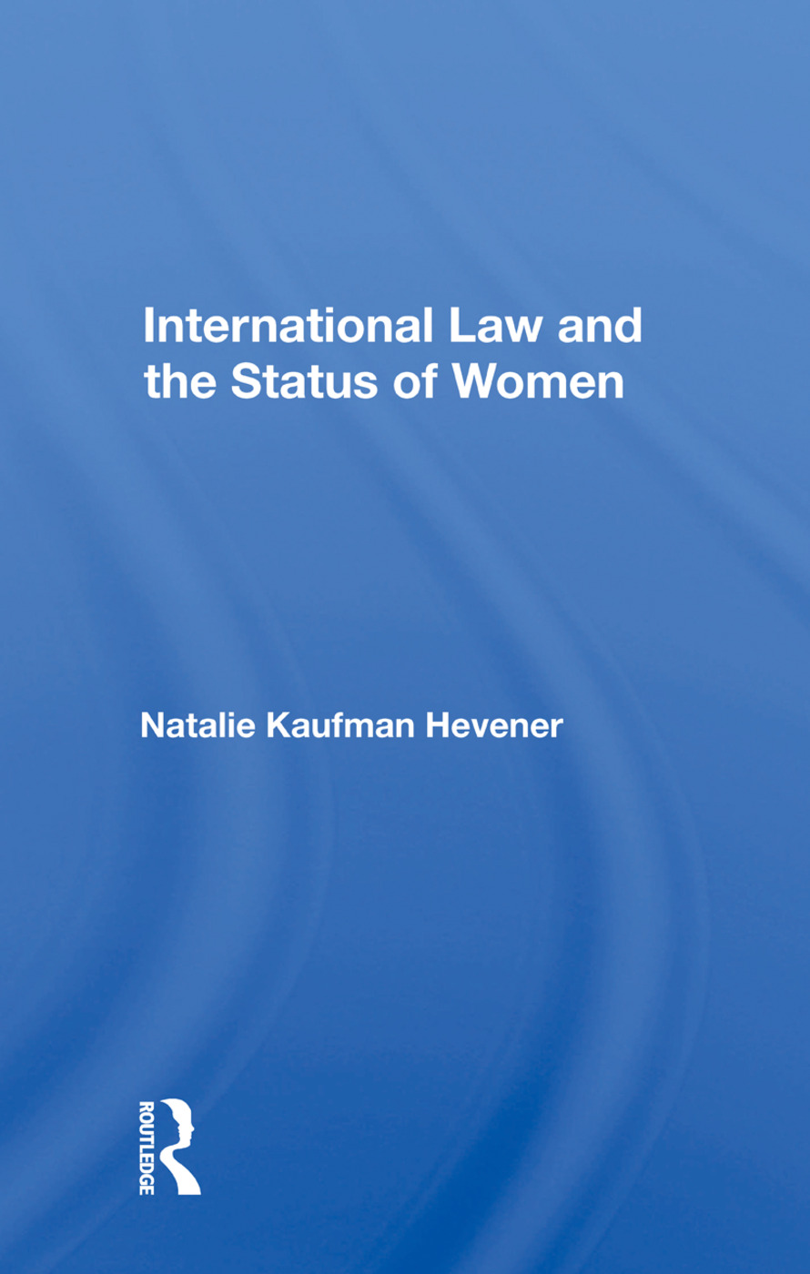 International Law And The Status Of Women book cover