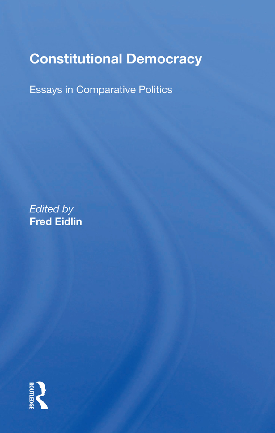 Constitutional Democracy: Essays In Comparative Politics, 1st Edition (Paperback) book cover
