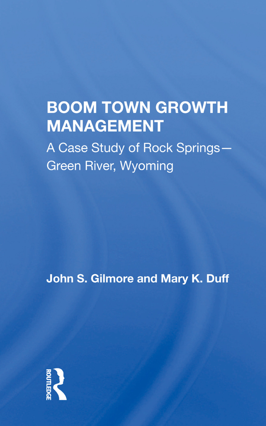 Boom Town Growth Managem/h: 1st Edition (Hardback) book cover
