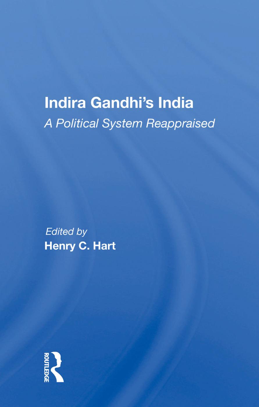 Indira Gandhi's India/h book cover