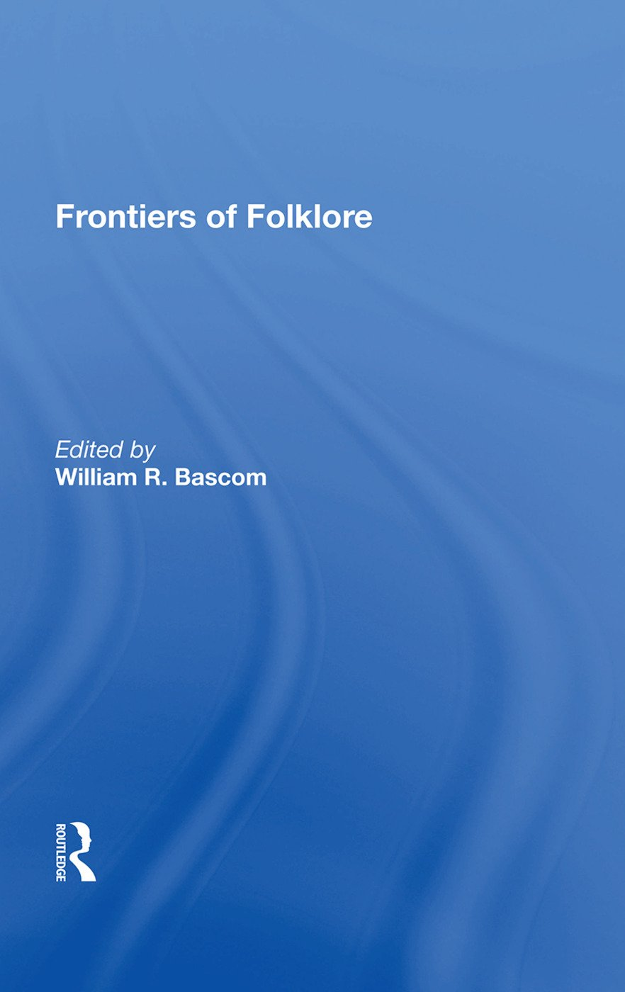 Frontiers Of Folklore/h: 1st Edition (Hardback) book cover