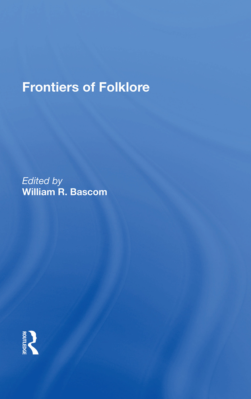 Frontiers Of Folklore/h: 1st Edition (Paperback) book cover