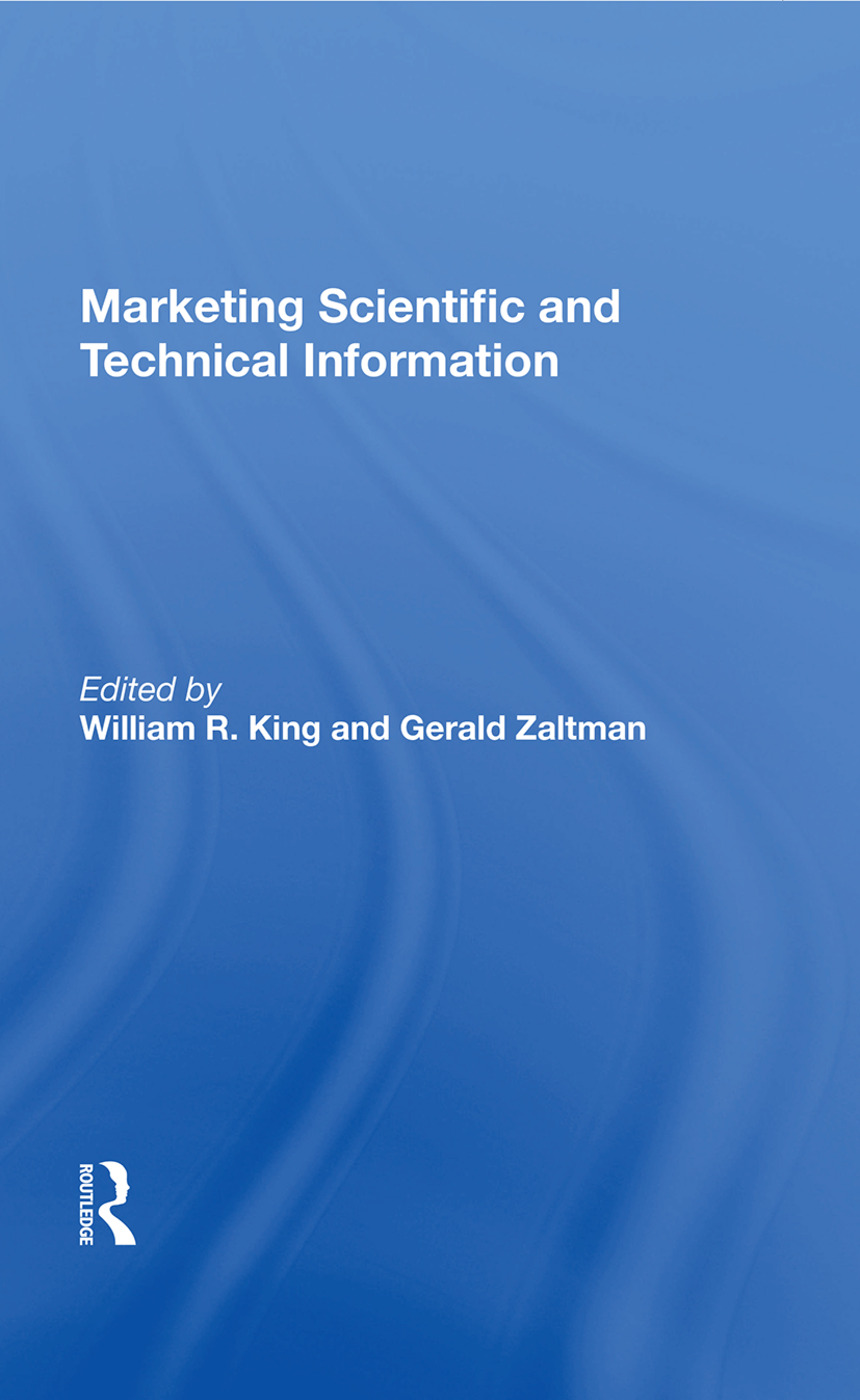 Marketing Scientific And Technical Information: 1st Edition (Paperback) book cover