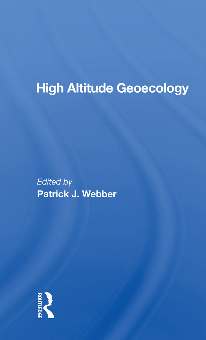 High Altitude Geoecology: 1st Edition (Paperback) book cover