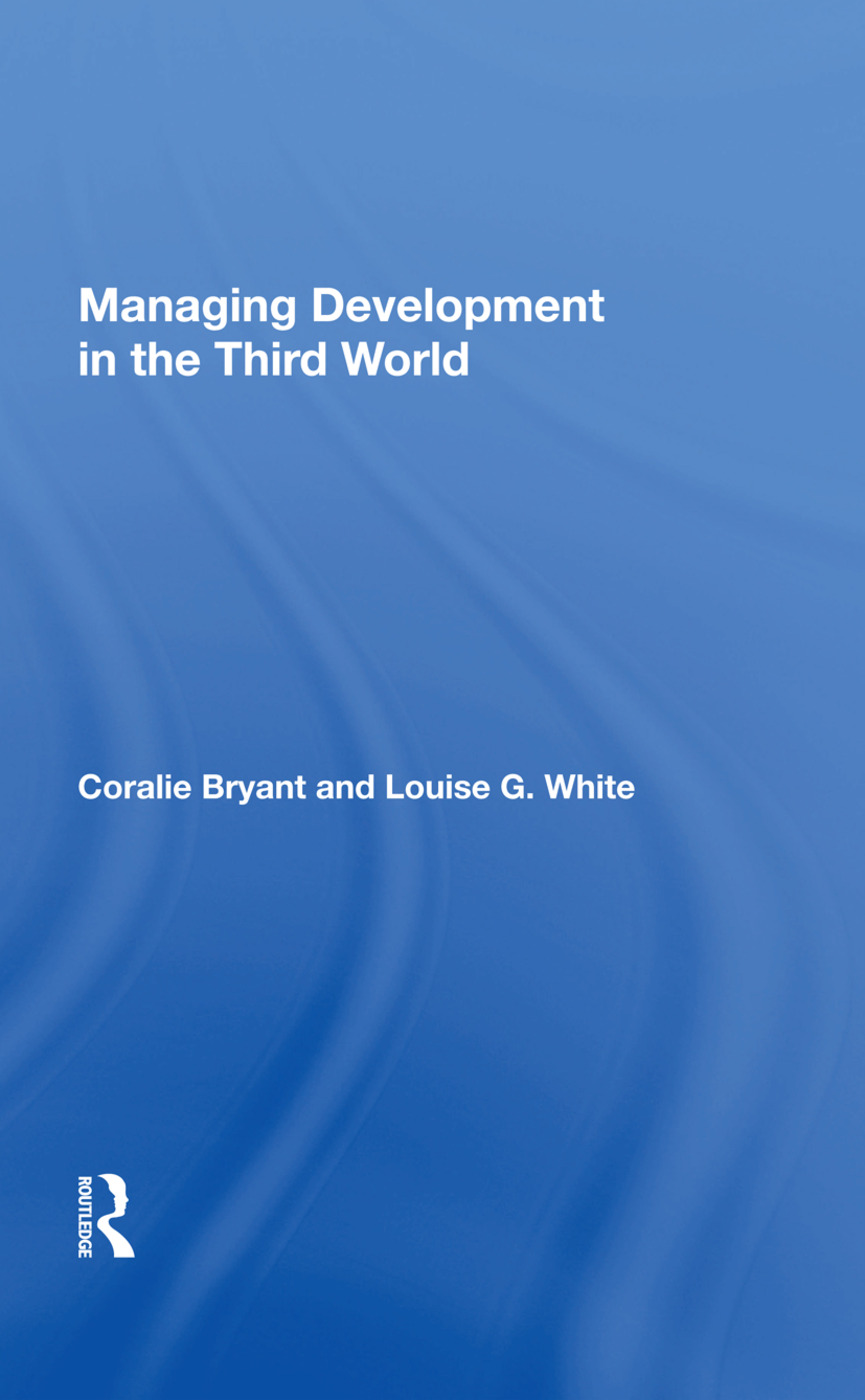 Managing Development In The Third World: 1st Edition (Hardback) book cover