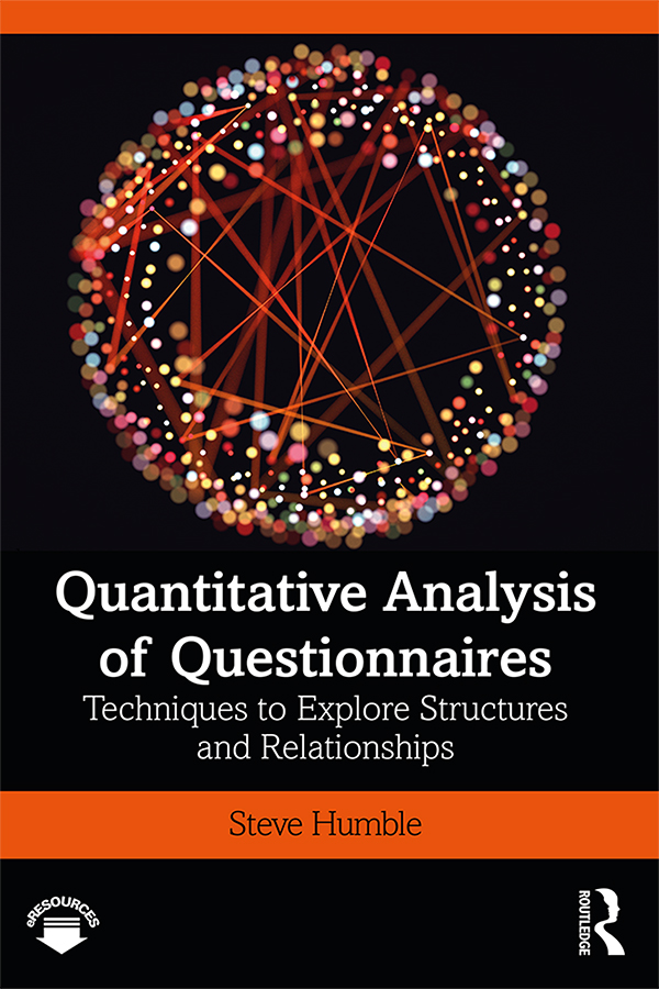 Quantitative Analysis of Questionnaires: Techniques to Explore Structures and Relationships book cover