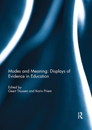 Modes and Meaning: Displays of Evidence in Education book cover