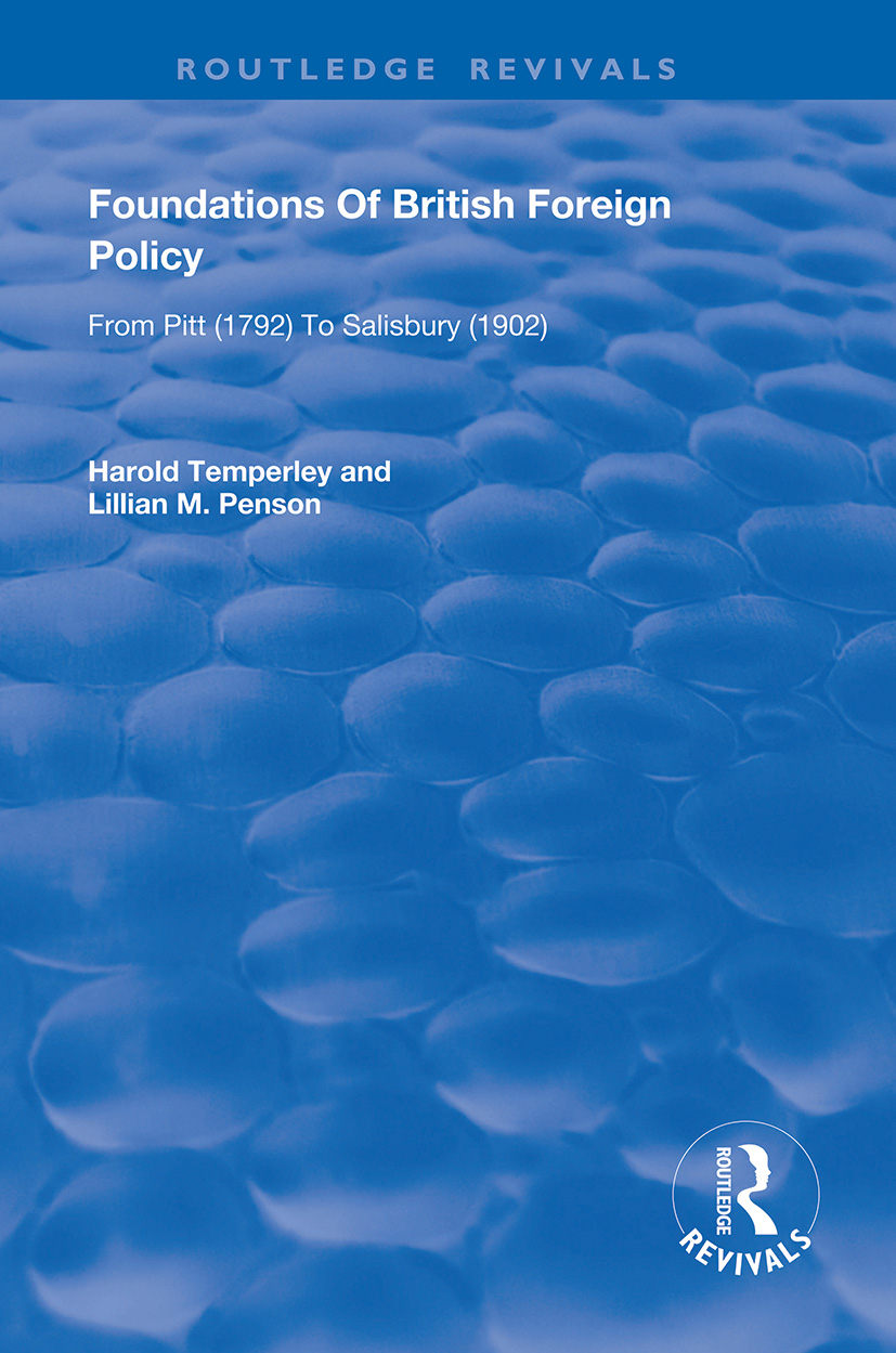 Foundations of British Foreign Policy