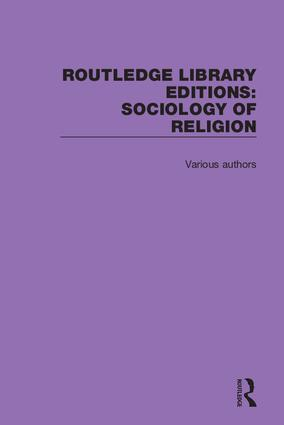 Routledge Library Editions: Sociology of Religion book cover