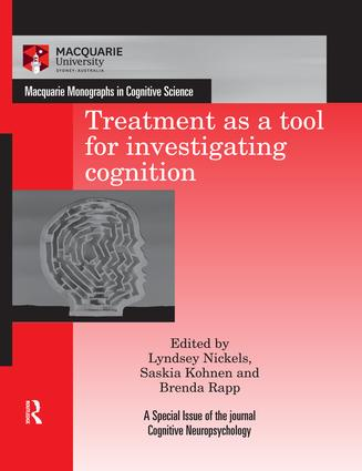 Treatment as a tool for investigating cognition book cover