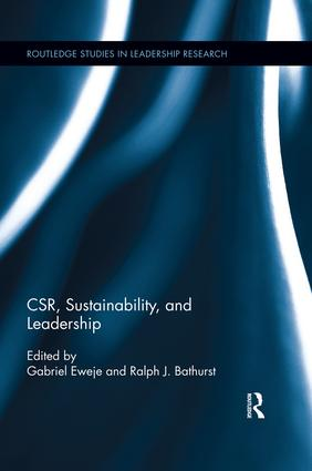 CSR, Sustainability, and Leadership book cover