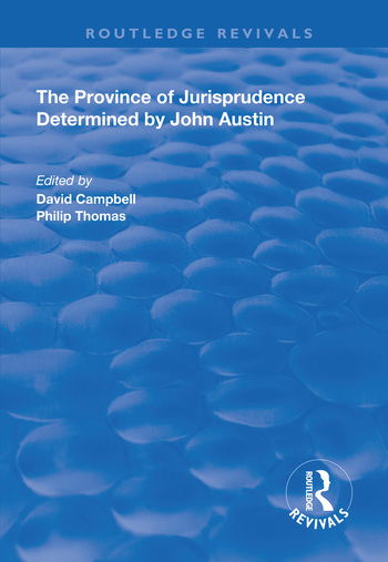 The Province of Jurisprudence Determined by John Austin book cover