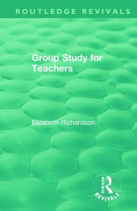 Group Study for Teachers: 1st Edition (Hardback) book cover