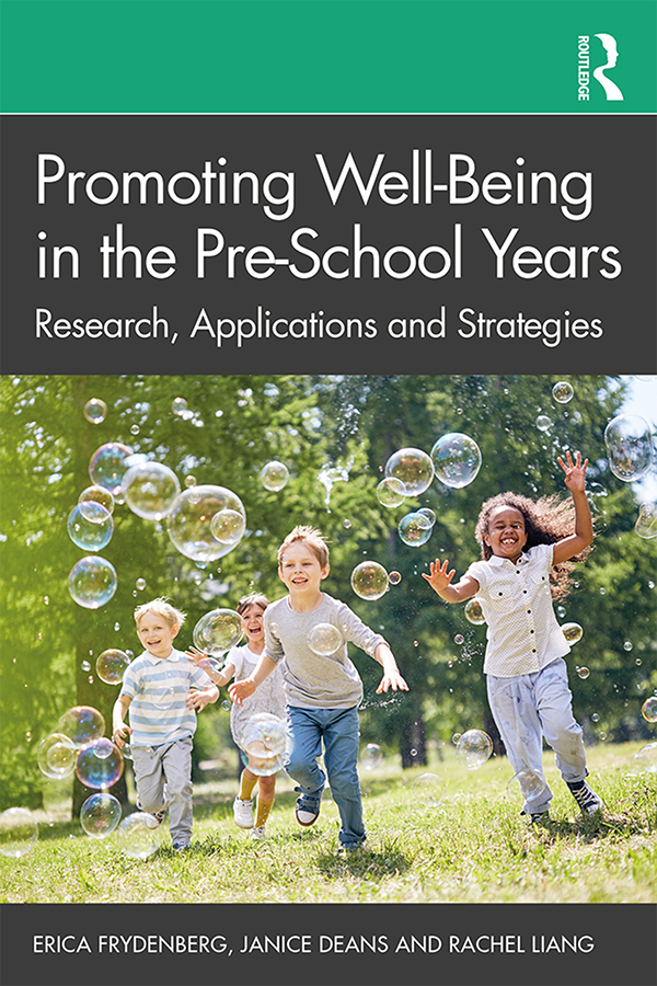 Promoting Well-Being in the Pre-School Years: Research, Applications and Strategies book cover