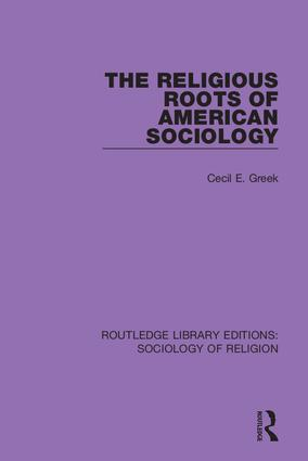 The Religious Roots of American Sociology book cover