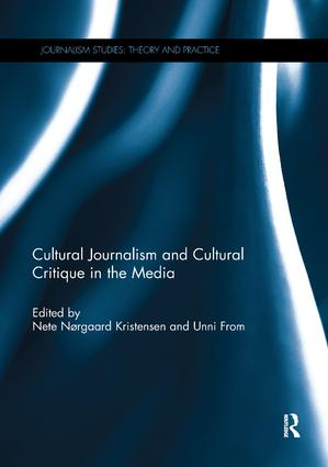 Cultural Journalism and Cultural Critique in the Media book cover