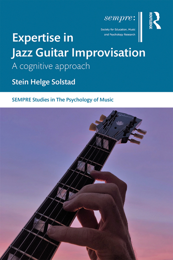 Expertise in Jazz Guitar Improvisation: A cognitive approach book cover
