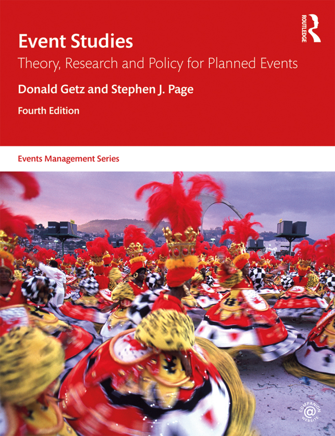 Event Studies: Theory, Research and Policy for Planned Events, 4th Edition (Paperback) book cover