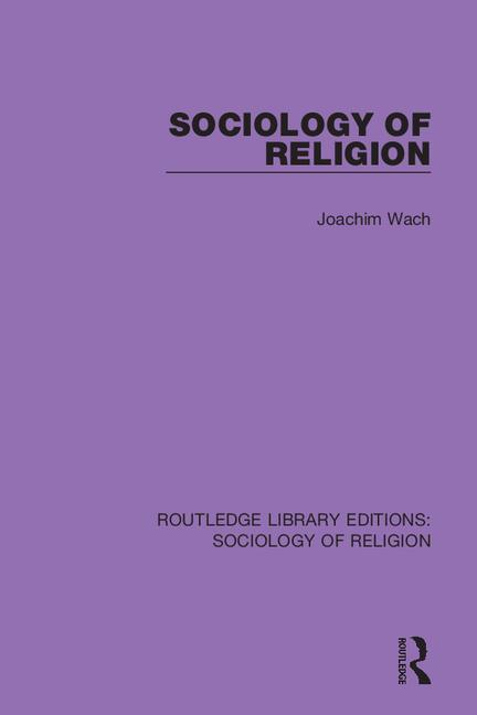 Sociology of Religion book cover