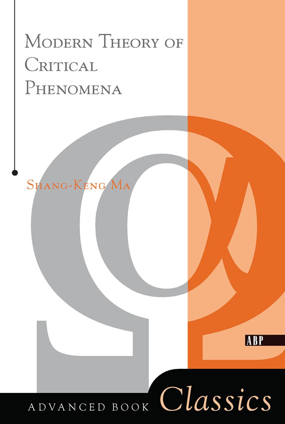 Modern Theory Of Critical Phenomena: 1st Edition (Hardback) book cover