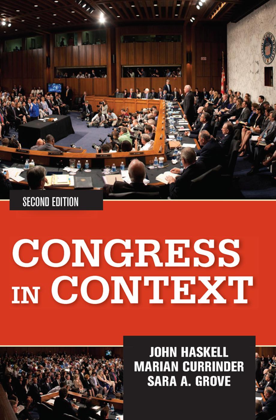 Congress in Context book cover