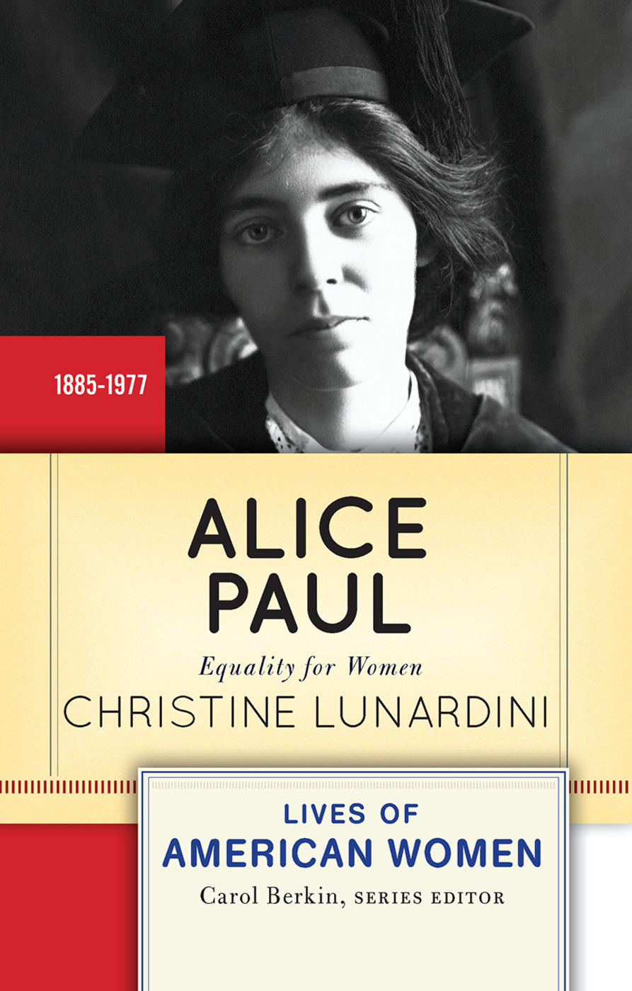 Alice Paul: Equality for Women book cover