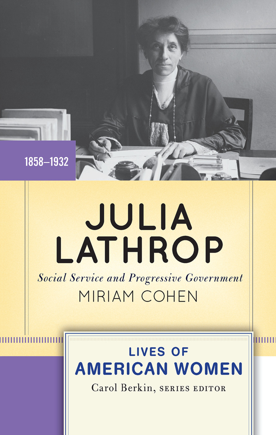 Julia Lathrop: Social Service and Progressive Government book cover