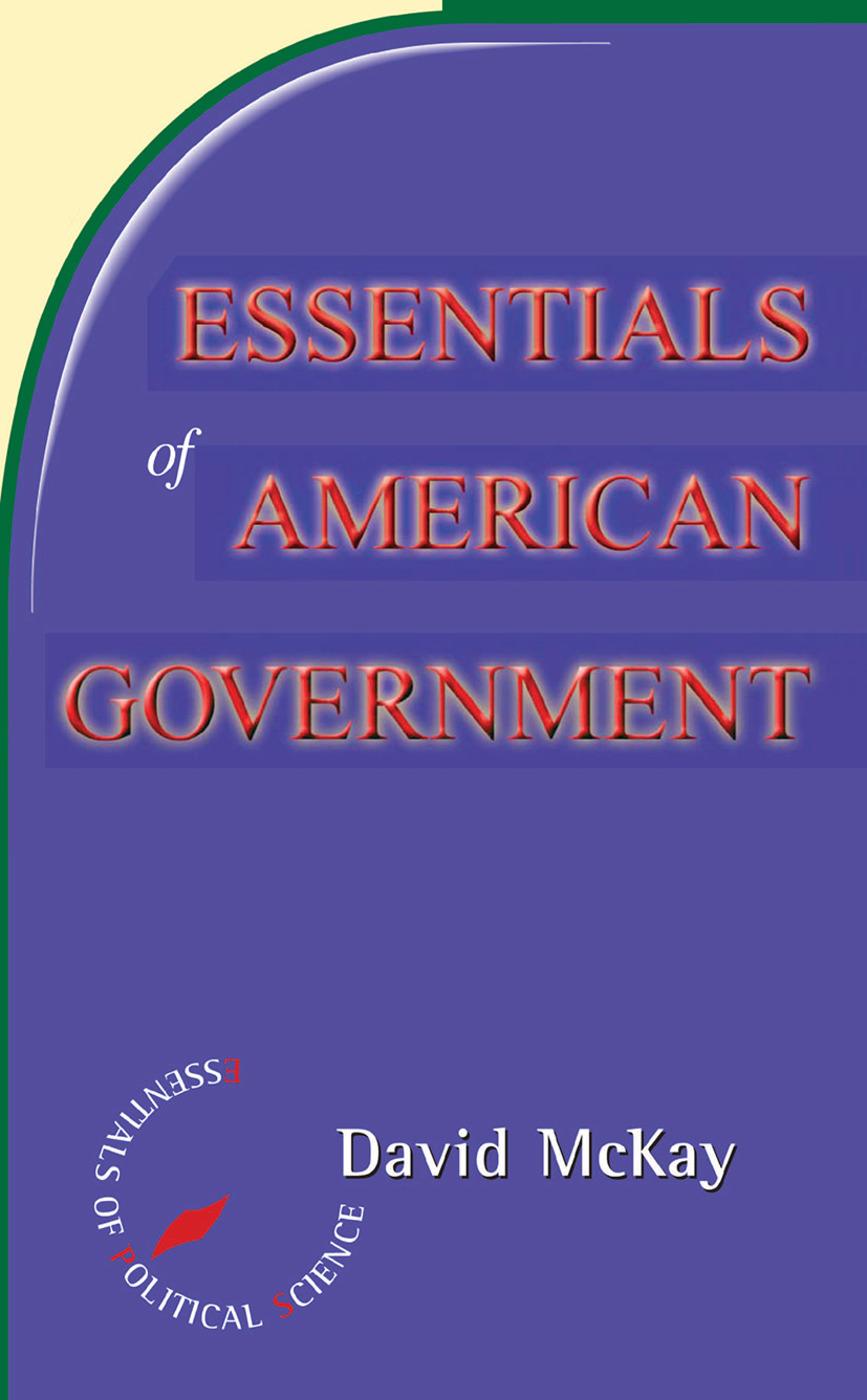 Essentials Of American Politics book cover