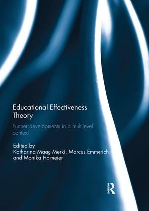 Educational Effectiveness Theory: Further developments in a multilevel context book cover