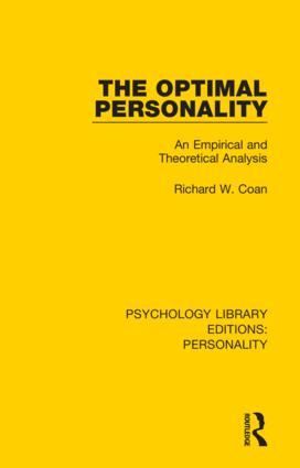 The Optimal Personality: An Empirical and Theoretical Analysis, 1st Edition (Hardback) book cover