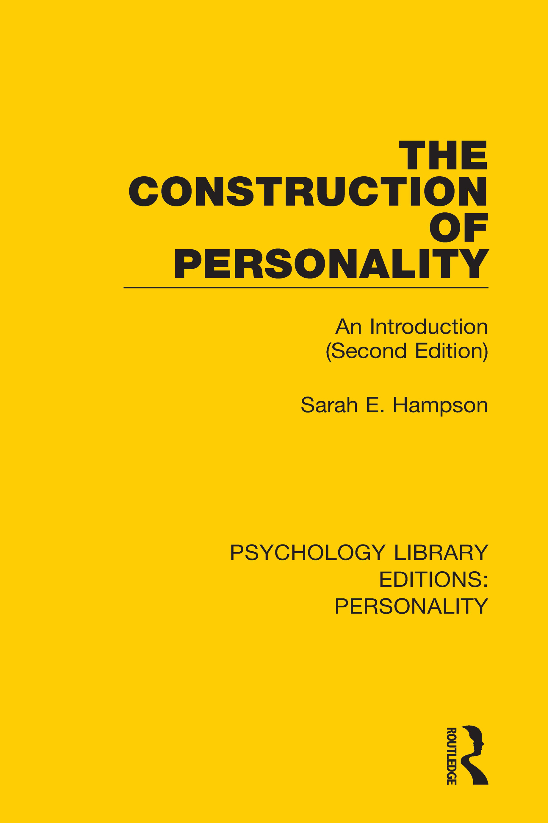 The Construction of Personality: An Introduction (Second Edition), 1st Edition (Hardback) book cover