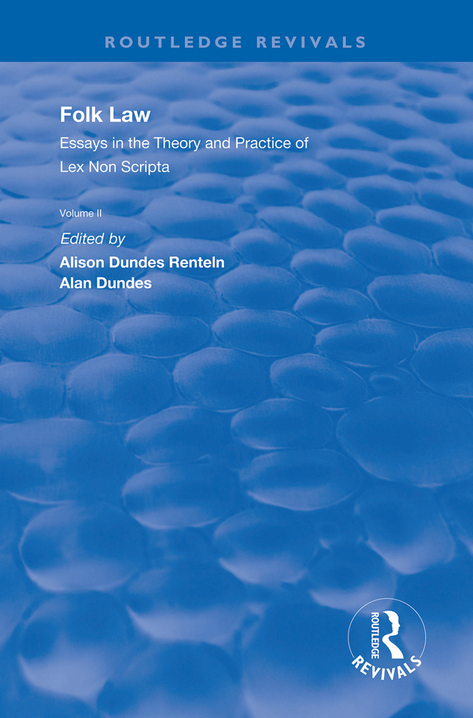 Folk Law: Essays in the Theory and Practice of Lex Non Scripta: Volume II book cover