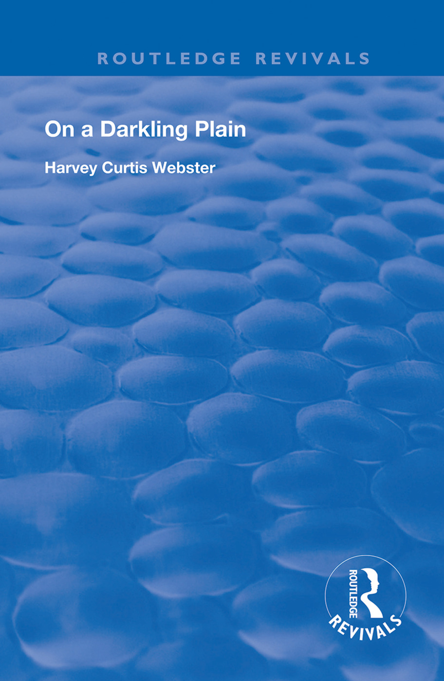 On a Darkling Plain book cover