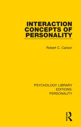 Interaction Concepts of Personality: 1st Edition (Hardback) book cover