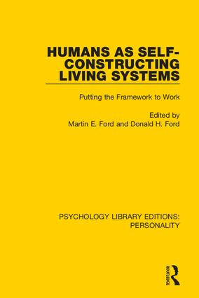 Humans as Self-Constructing Living Systems: Putting the Framework to Work, 1st Edition (Hardback) book cover
