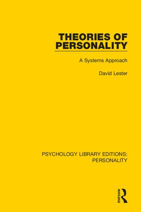 Theories of Personality: A Systems Approach book cover