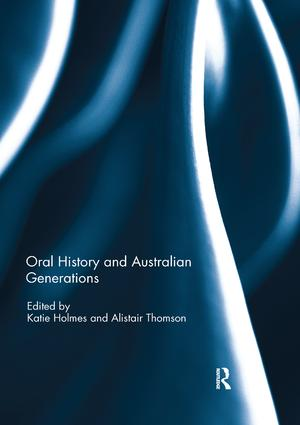 Oral History and Australian Generations book cover
