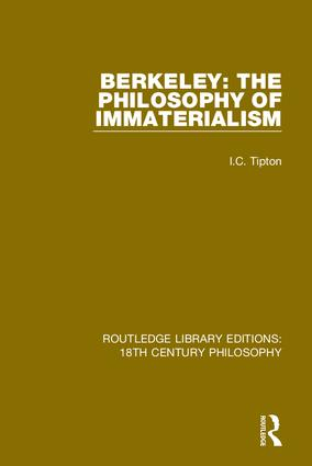 Berkeley: The Philosophy of Immaterialism book cover
