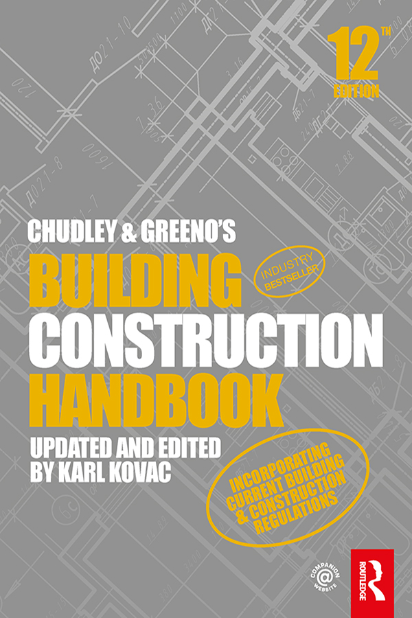 Chudley and Greeno's Building Construction Handbook, 12th Edition book cover