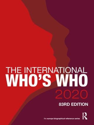 The International Who's Who 2020 book cover