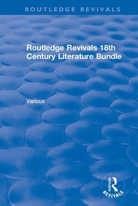 Routledge Revivals 18th Century Literature Bundle book cover