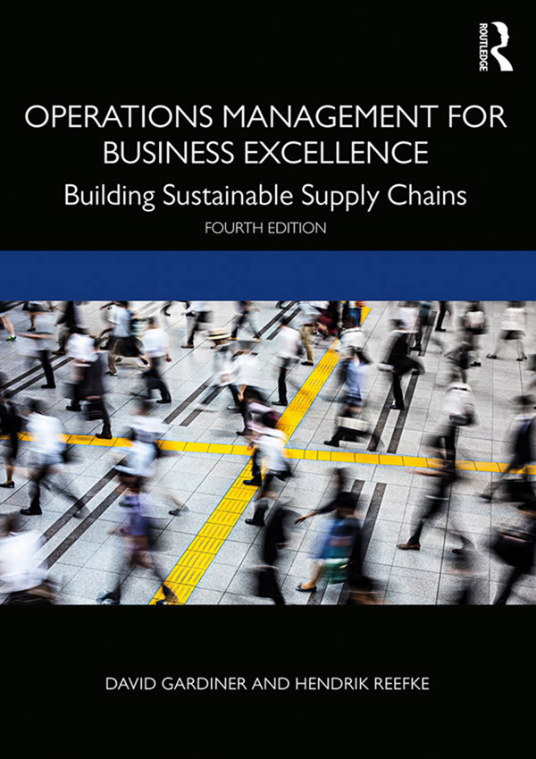 Operations Management for Business Excellence: Building Sustainable Supply Chains book cover