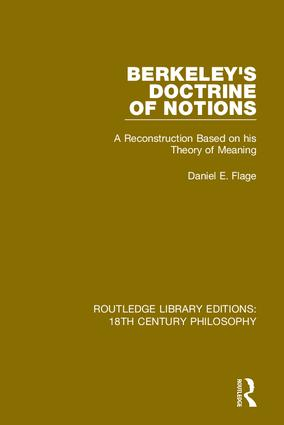 Berkeley's Doctrine of Notions: A Reconstruction Based on his Theory of Meaning book cover