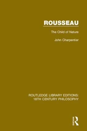 Rousseau: The Child of Nature book cover