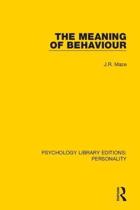 The Meaning of Behaviour book cover